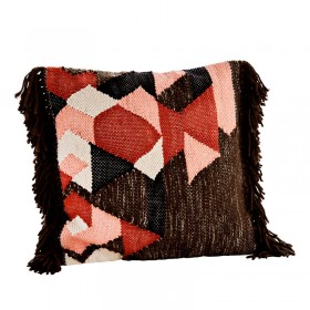 Cushion cover with fringes