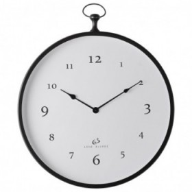 Clotilde clock black 51x57 cm.