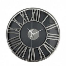 Clotilde clock silver Ø51 cm.