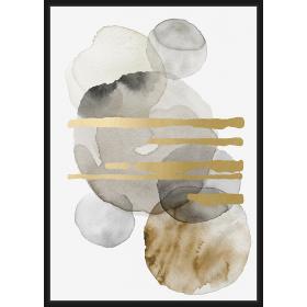 Watercolor shapes print