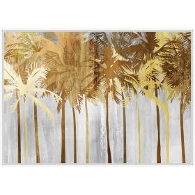 Golden palm trees print