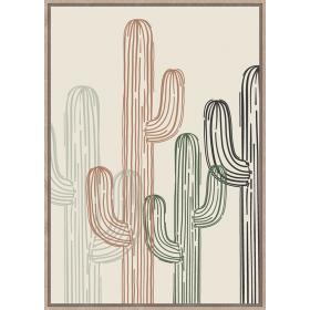 Drawn cactus print