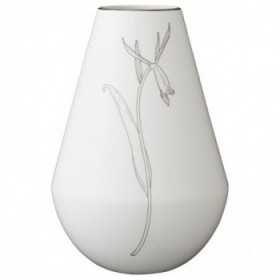 Sasefine vase white 21 cm.