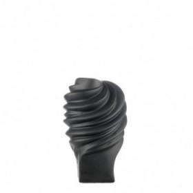 Nori vase black 23 cm.