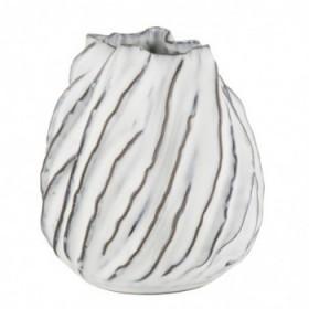 Moto vase white 17,5 cm.