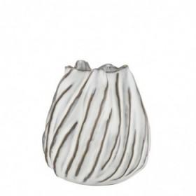 Moto vase white 12,5 cm.