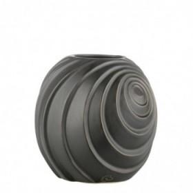 Swirl vase black 16 cm.