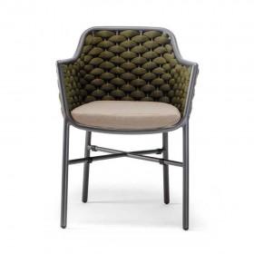 Stackable outdoor armchair