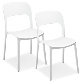Pair of stackable chairs