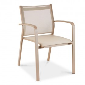 Beige armchair for outdoors