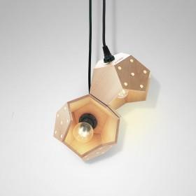 Basic TWELVE duo wood lamps
