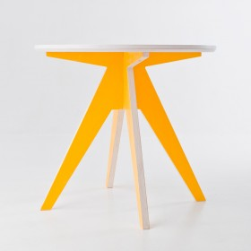 Edi Yellow Table Ø85cm